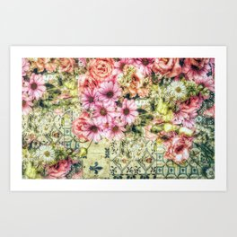Shabby Chic Floral Art Print