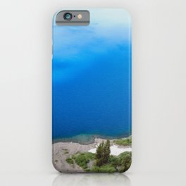Crater Lake Cloud Reflection iPhone Case