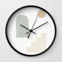 Sage Cyclades Linen Sun Wall Clock