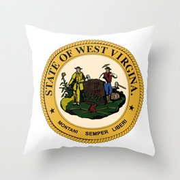 West Virginia State Seal Throw Pillow