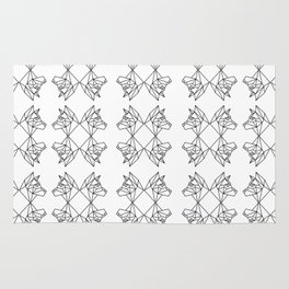 Geometric Shiba Inu Rug