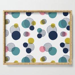 Abstract Circles Serving Tray