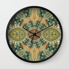 Impression of falling leaves Wall Clock