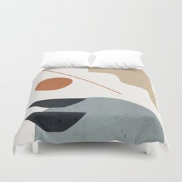 Abstract Minimal Shapes 29 Duvet Cover