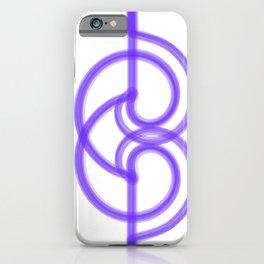 Violet linear minimal modern iPhone Case