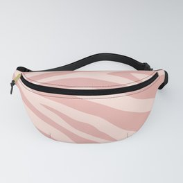 Pink Zebra Skin Pattern Fanny Pack