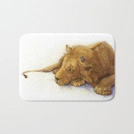 Lion and Mouse: Aesop's Fable Bath Mat