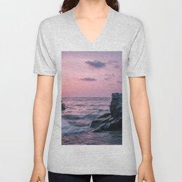 Ocean landscape at sunset Unisex V-Neck