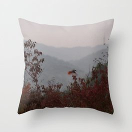 bird with red tail Throw Pillow