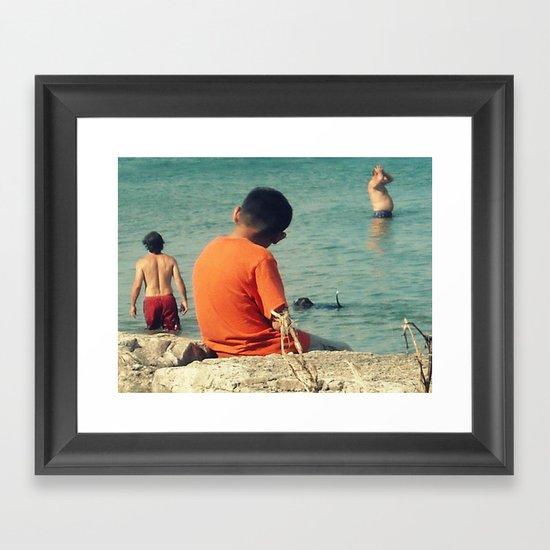 Summer Swim ~ lake Framed Art Print