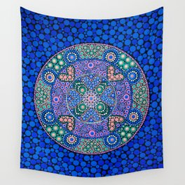 TIME OF NOW MANDALA Wall Tapestry