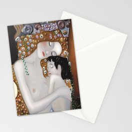 My Klimt Serie : Mother And Child Stationery Cards