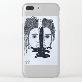 Love Her Mind First Clear iPhone Case