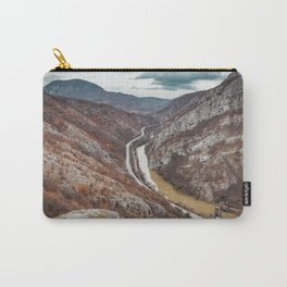 Beautiful picture of the canyon in Serbia, with river and the highway in the middle Carry-All Pouch