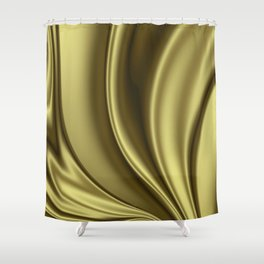 Abstract Fractal Colorways 02 Simple Gold Shower Curtain