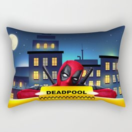 Dead Pool Taxi Night Rectangular Pillow