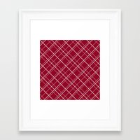 burgundy Framed Art Prints featuring Burgundy Pattern by Christina Rollo