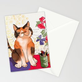Artist's Cat Stationery Cards
