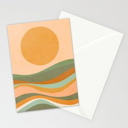 Rainbow Waves Landscape Stationery Cards