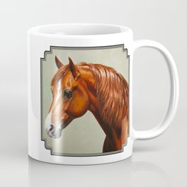 Chestnut Morgan Horse Coffee Mug