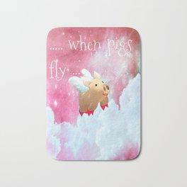 When Pigs Fly - Pink Sky Bath Mat