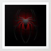 spider man Art Prints featuring Spider man by DavinciArt