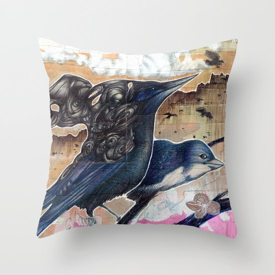 They Talk Throw Pillow