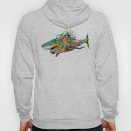Colored Sea Shark Hoody