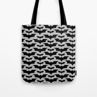 bats Tote Bags featuring Bats by Sney1