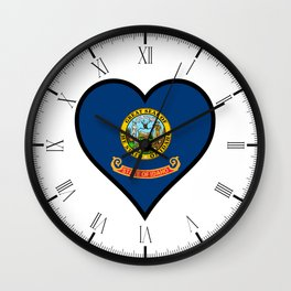 Love Idaho Wall Clock