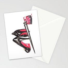 High Heels and nail polish art Stationery Cards