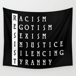 Resist : a political protest Wall Tapestry