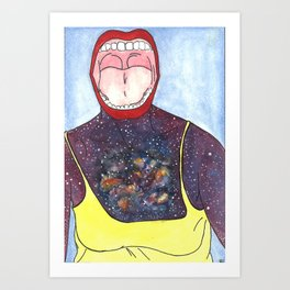 Galaxy Scream Art Print
