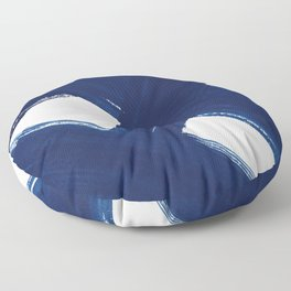 Indigo Abstract Brush Strokes | No. 3 Floor Pillow