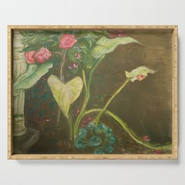 Lilly and Camelia pastel painting Serving Tray
