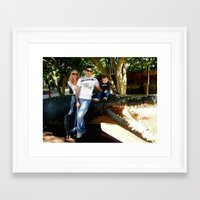 ashton irwin Framed Art Prints featuring Tribute to Steve Irwin by Chris' Landscape Images & Designs