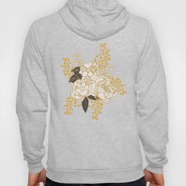 Glam Florals - Gold Hoody