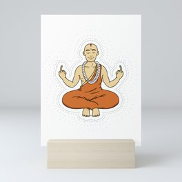 Spiritual peace, unfuck the world ;) Mini Art Print