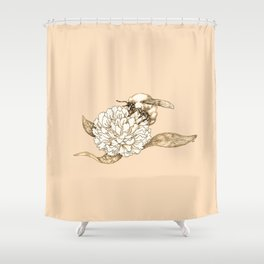 Where did the bees disappear? Shower Curtain