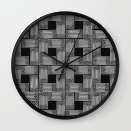 Xingu Pattern 2 Wall Clock