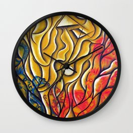 """Ring of Fire"" Wall Clock"