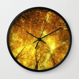 Golden Trees of Endless Dreams Wall Clock