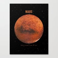 bruno mars Canvas Prints featuring Mars by Terry Fan