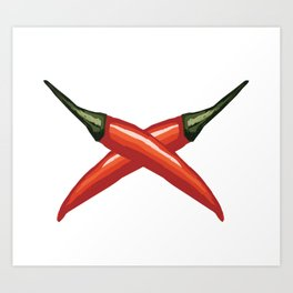 Red Chili Peppers Art Print
