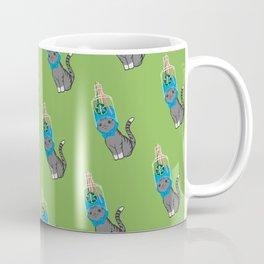 Grey Tabby Wears Recycled Plastic Hat Coffee Mug