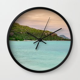 Colorful Day at the Beach Wall Clock