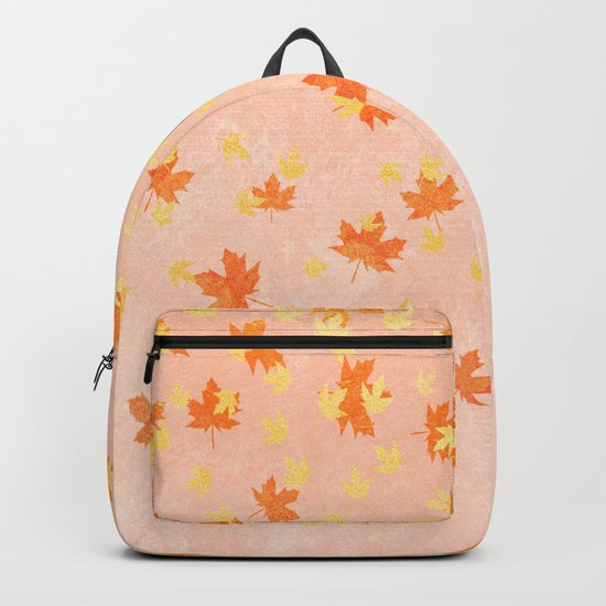 My favourite colour: Gold OCTOBER - Indian Summer - Rose Gold autumnal leaves Backpack