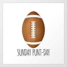 Sunday Punt-day Art Print