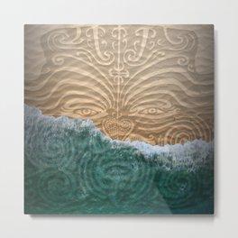 Maori Beach Metal Print