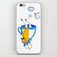 alice in wonderland iPhone & iPod Skins featuring Wonderland by Bethany Grace